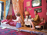 "One look at the bold pink walls, butterfly cut-outs, and gypsy-style canopy bed, and we can't help but think of Jessa. ""It's definitely got confidence, that pink,"" notes Jemima.  Source: Vulture"