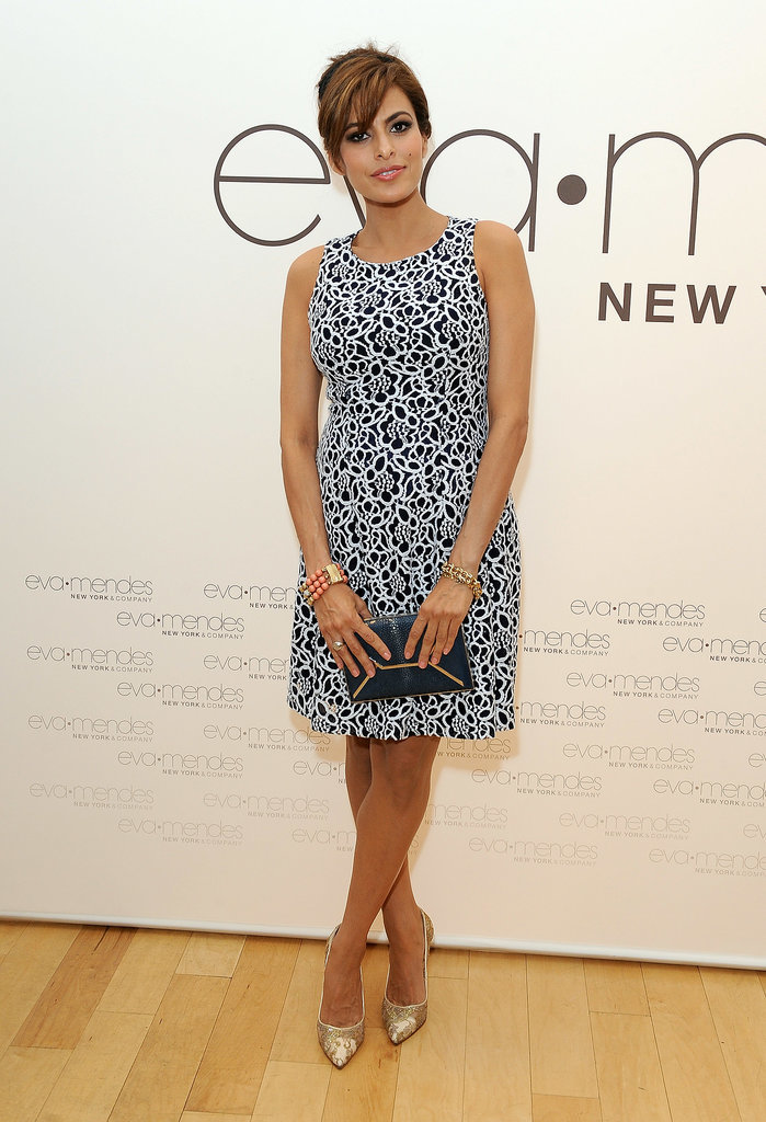 Eva Mendes Wearing New York & Company Dress