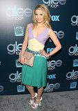Dianna Agron went for a colorful look.