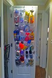 Cleaning Supplies in a Shoe Organizer