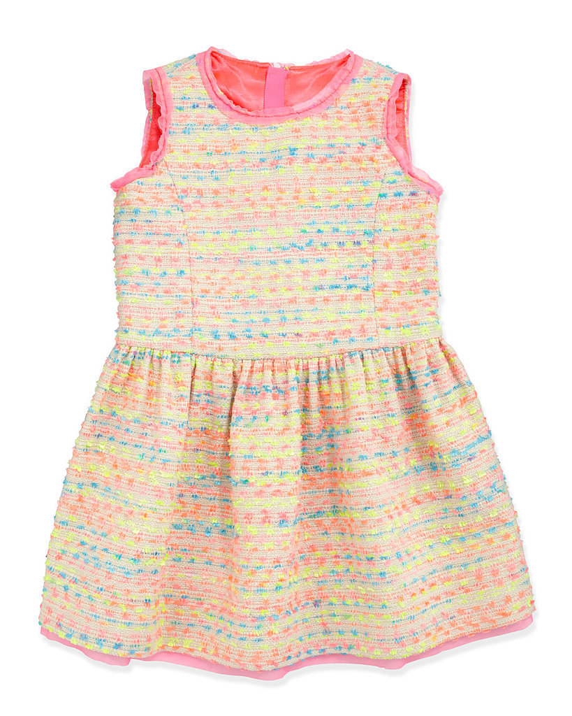 Milly Minis Neon Flecked Tweed Dress