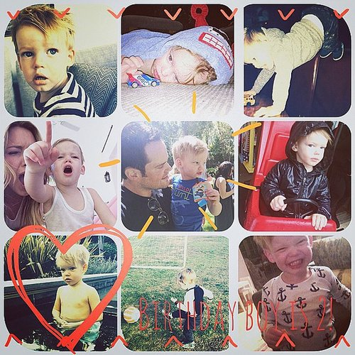 Hilary Duff showed off just how much little Luca has grown in two years. Source: Instagram user hilaryduff