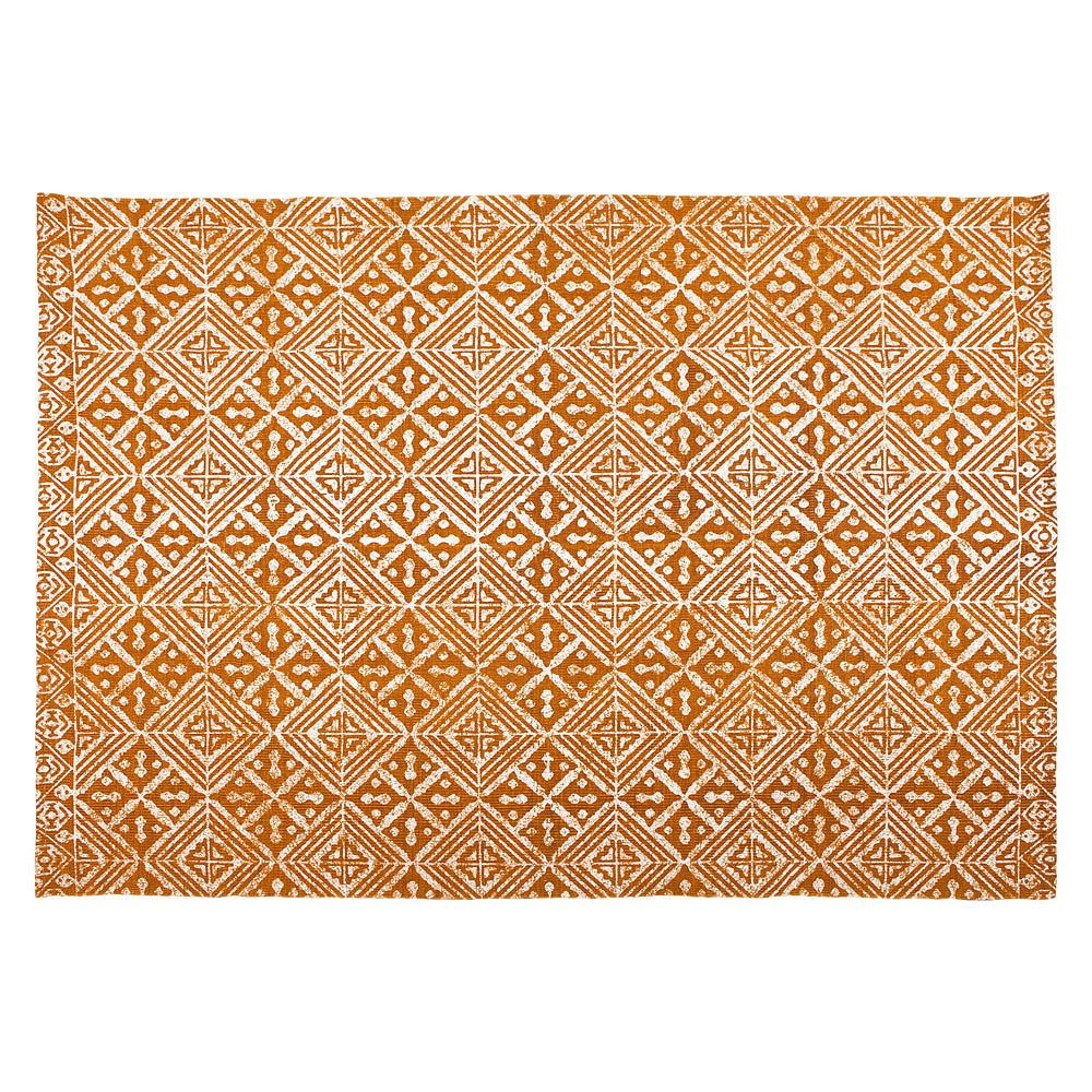 This cotton rug ($189) is an affordable way to cover floors with an earthy print.