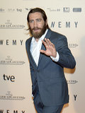 Jake Gyllenhaal showed off serious facial scruff at the Madrid premiere of Enemy on Thursday.