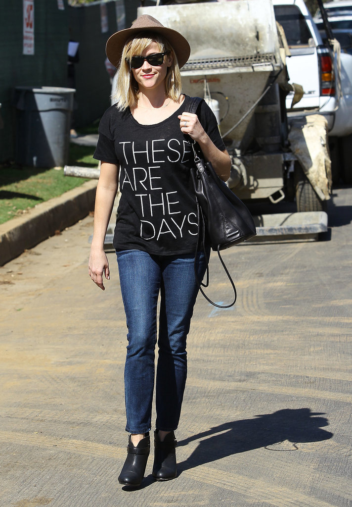 "Reese Witherspoon in J.Crew ""These Are the Days"" Tee"