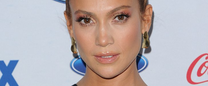 Jennifer Lopez Pairs Animal Print With Gold Shadow For American Idol