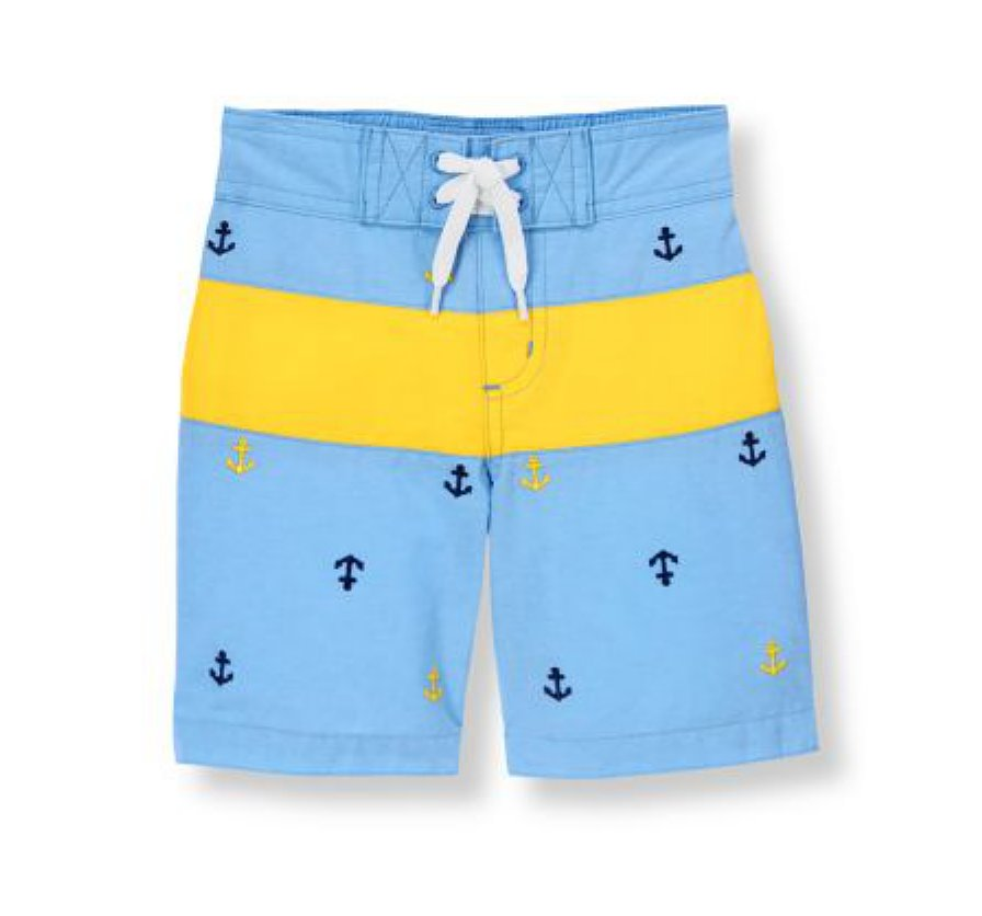 Anchor Stripe Swim Trunk