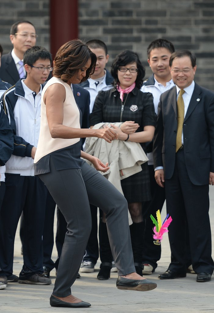 The first lady jumped into the festivities in Xi'an.