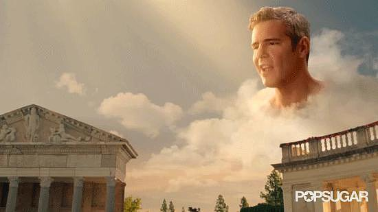 Weird: Andy Cohen Hanging Out in the Clouds