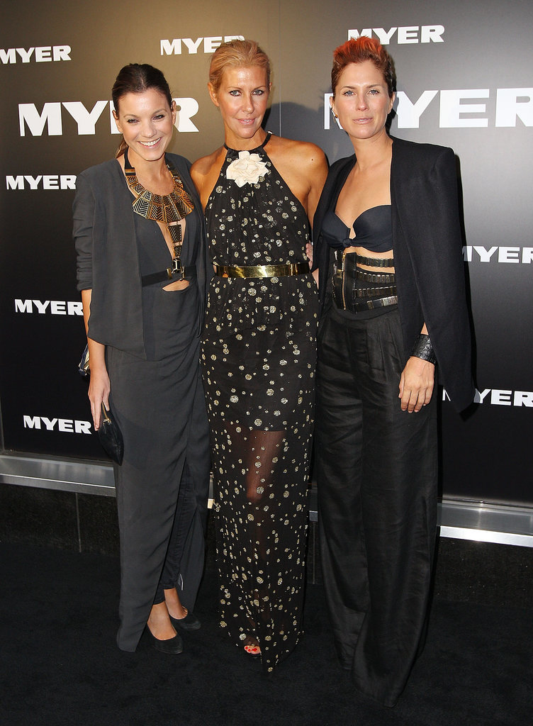 Sarah-Jane Clarke and Heidi Middleton at the 2012 Myer Autumn/Winter Launch