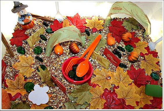 Image result for Fall Sensory Bins for Toddlers