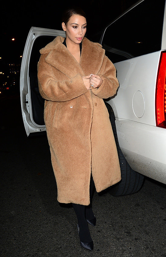 Kim Kardashian's Winter Coats