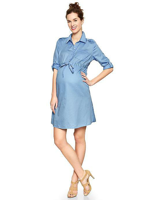 The Gap's Solid Sateen Shirtdress
