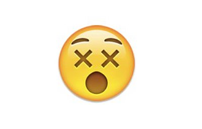 "Interpretation: ""Eek, I just saw something X-rated.""  Name + meaning: Dizzy Face. Face with crosses as eyes that looks like xx. Raised eyebrows and a wide-open mouth. Also known as: Cross-eyed face Source: Emojipedia"