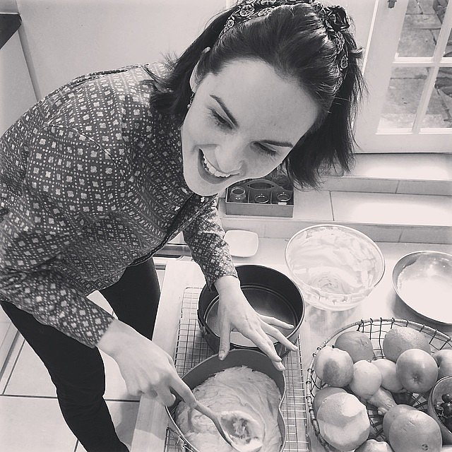 Michelle Dockery had fun baking. Source: Instagram user theladydockers