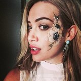 Hilary Duff got an epic face-paint job. Source: Instagram user hilaryduff