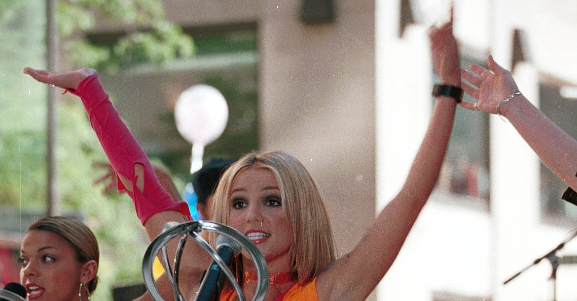 Britney Spears went bright on the Today show in June 2000 ...