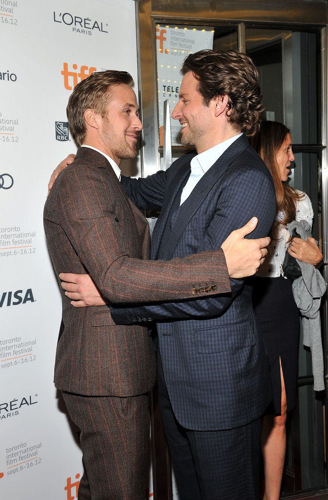 He's a big believer in hugs. Bradley Cooper understands.