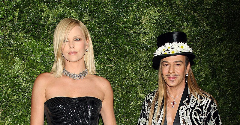 Charlize Theron & John Galliano