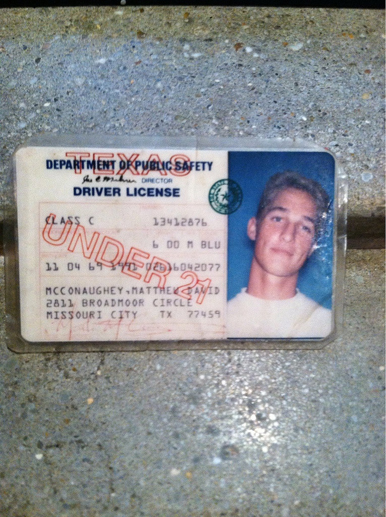 """My buddy's fake ID. Used to get into 18+ shows in the early 90s."" Source: Reddit user Philkolons via Imgur"