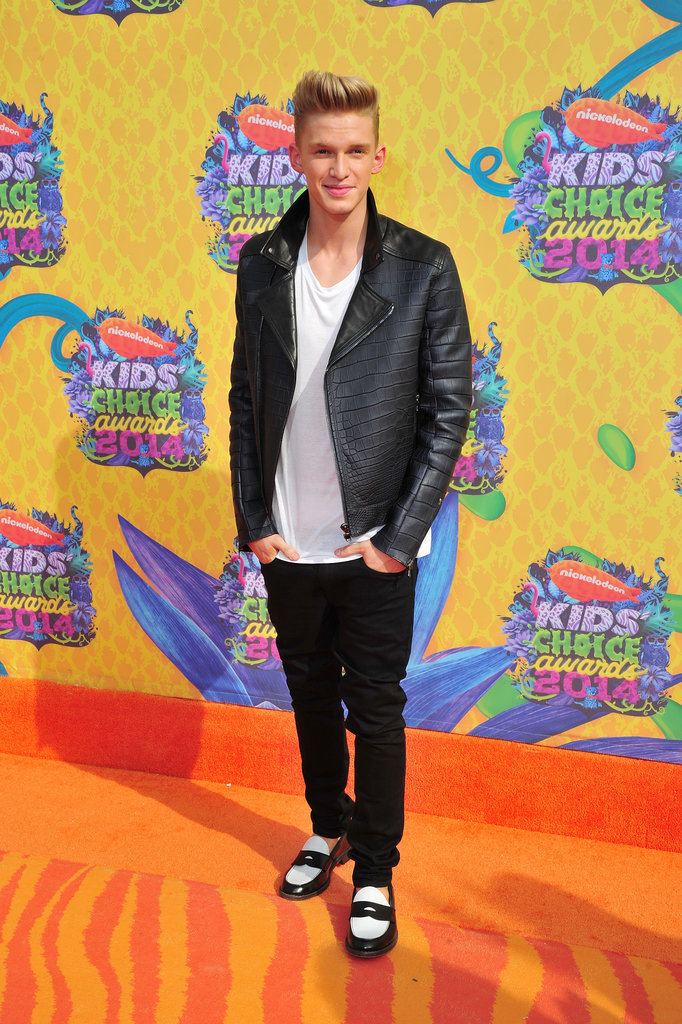 Cody Simpson wore standout black-and-white shoes.