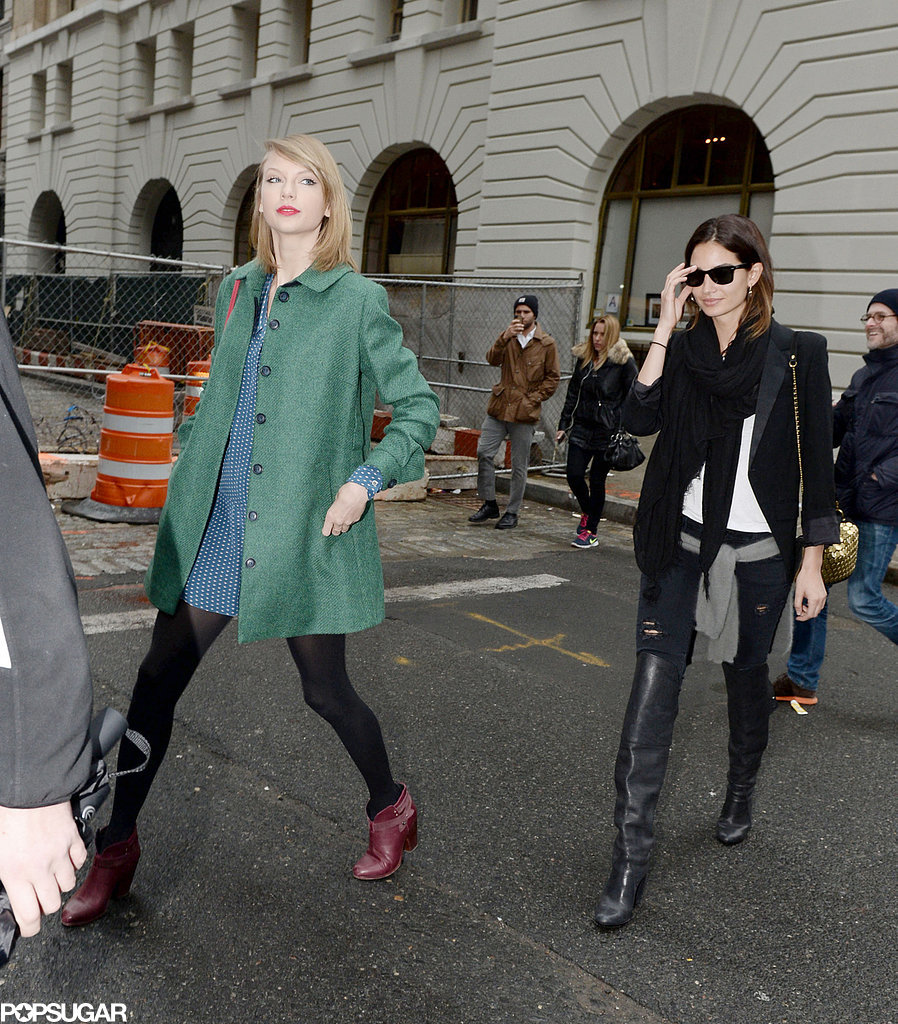 BFFs Taylor and Lily Trade Catwalk Smiles For Sidewalk Giggles