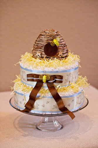 Bee-Themed Diaper Cake