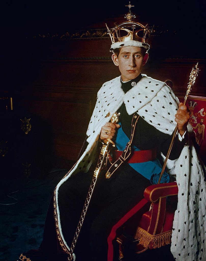 At the age of 21, Prince Charles posed for a portrait following his investiture as the Prince of Wales, a state event similar to a coronation.  Source: Photo courtesy of The British Monarchy
