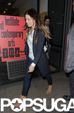 Jessica Biel and Justin Timberlake stepped out in London on Monday.