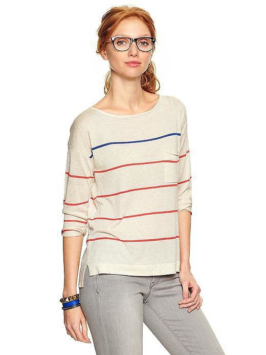 Gap Skinny-Stripe Boatneck Sweater