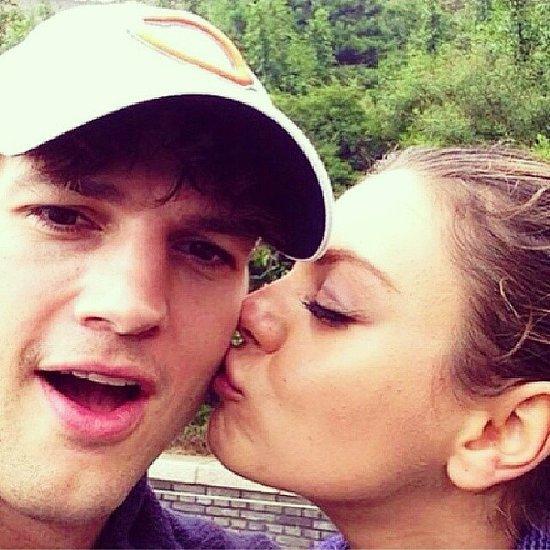 Ashton Kutcher and Mila Kunis Cute Social Media Pictures