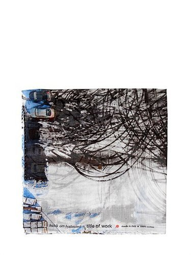 Title Of Work - Digital Print Cotton Voile Pocket Square