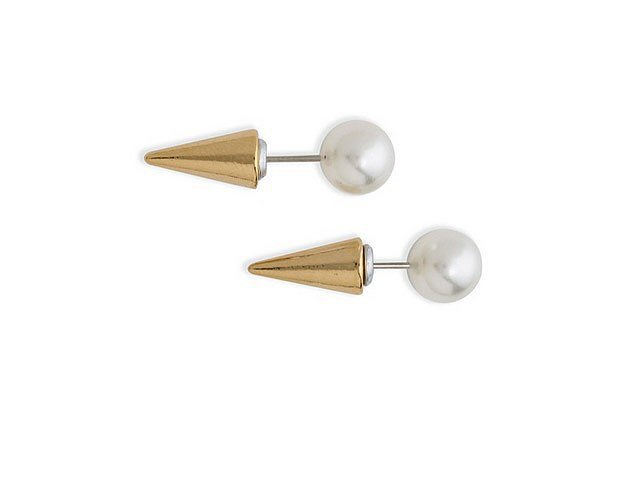 Swarovski Fallon Jewelry Pearl Microspike Earrings ($98)