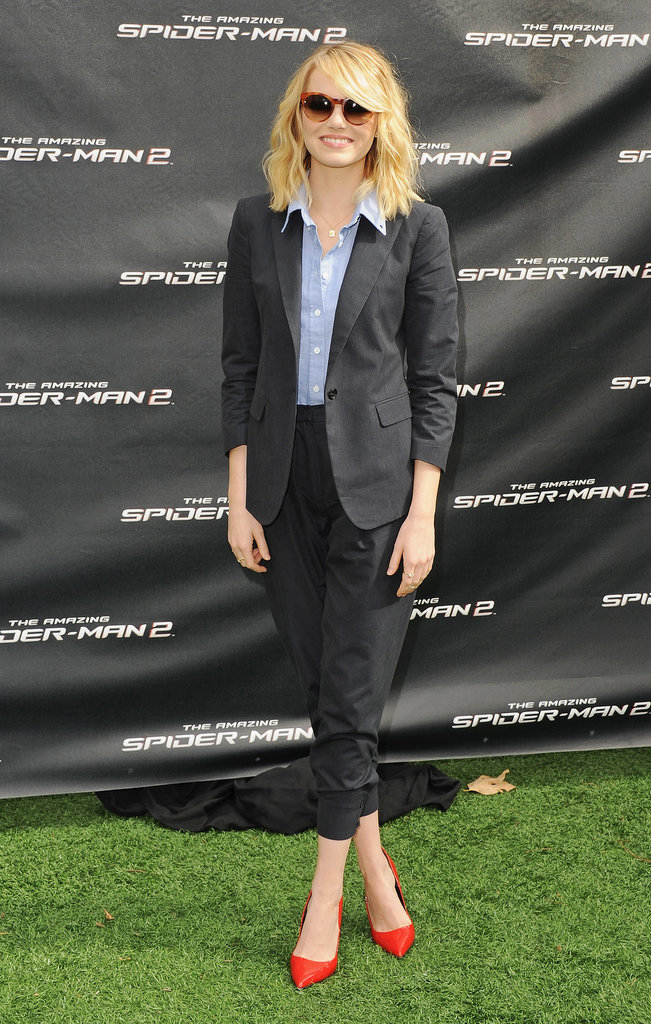 Emma Stone at an LA Press Event For The Amazing Spider-Man 2