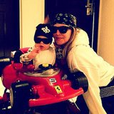 "Fergie and her son, Axl Duhamel, were ""#roaddogz4life"" after Josh went to set. Source: Instagram user fergie"
