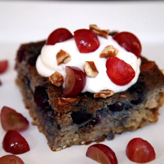 Blueberry Grape Barley Breakfast Slice