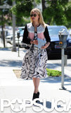 Dianna Agron took a walk a round LA on Thursday.