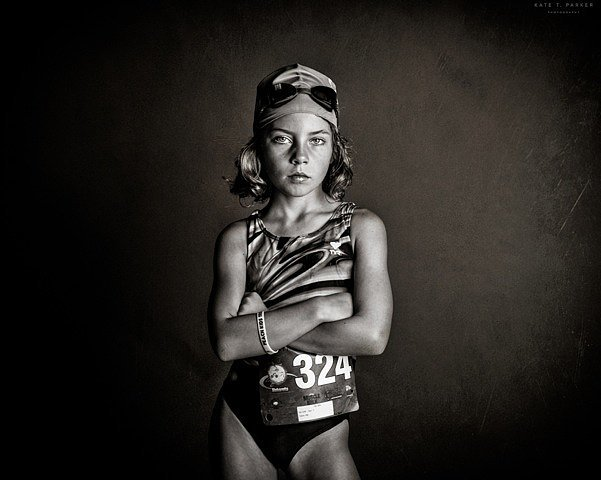 PSM: Do you have a favorite photo in the series? KTP: I love the one of my daughter right before her first triathlon.  She has such confidence in that image. It gives me chills when I look at it. I want her to carry that same confidence with her throughout her life.  My hope is that this image can always remind her of how confident she was before that race and give her strength she needs when she might not be feeling as brave or fearless about something in the future.  Source: Kate T. Parker Photography