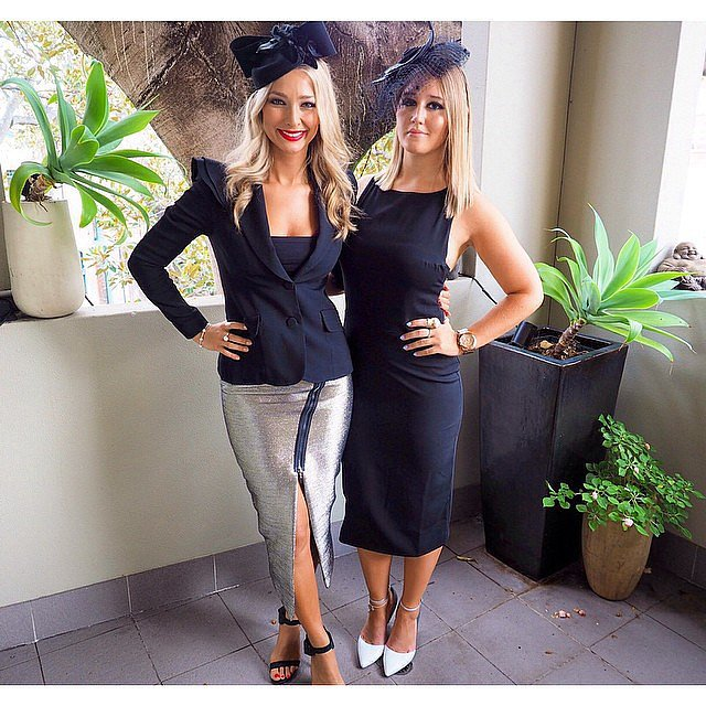 Anna Heinrich and a friend got ready to go, with Anna wearing Yeojin Bae and Toni Maticevski. Source: Instagram user annaheinrich1