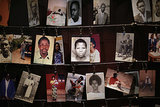 Photos of those killed in the genocide hang inside the nation's memorial to those lost.