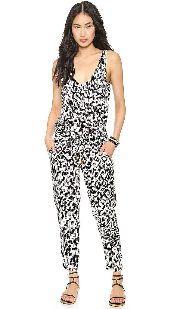 Selena Gomez Black-and-White Kona Jumpsuit