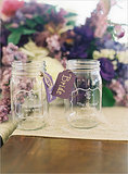Etched Mason Jars