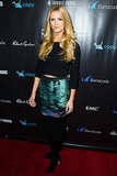 Brooklyn Decker in Colorful Proenza Schouler Skirt at 2014 Leather and Laces Party