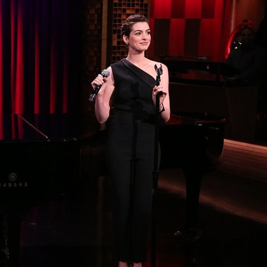 Anne Hathaway Singing Gin and Juice on Jimmy Fallon