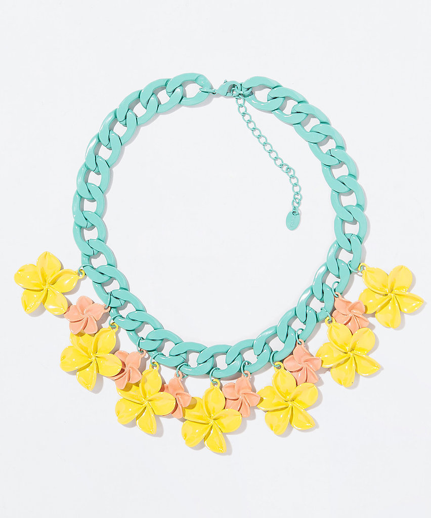 Zara pastel flower and chain ne