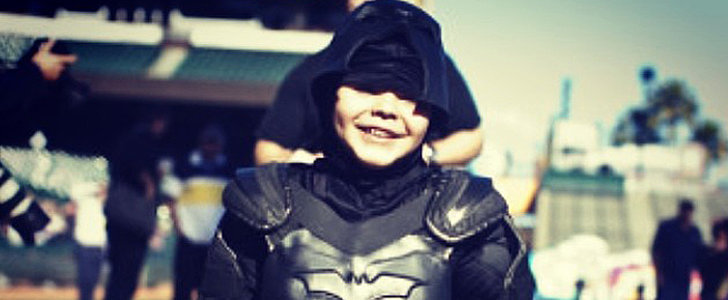 Batkid Throws Out the First Pitch at SF Opening Day, Still Living the Dream