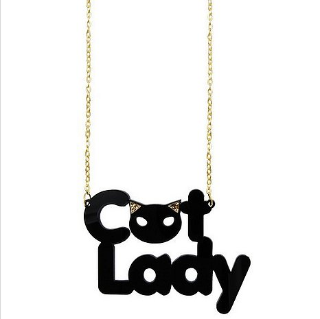 Cat Lady Necklace in Black