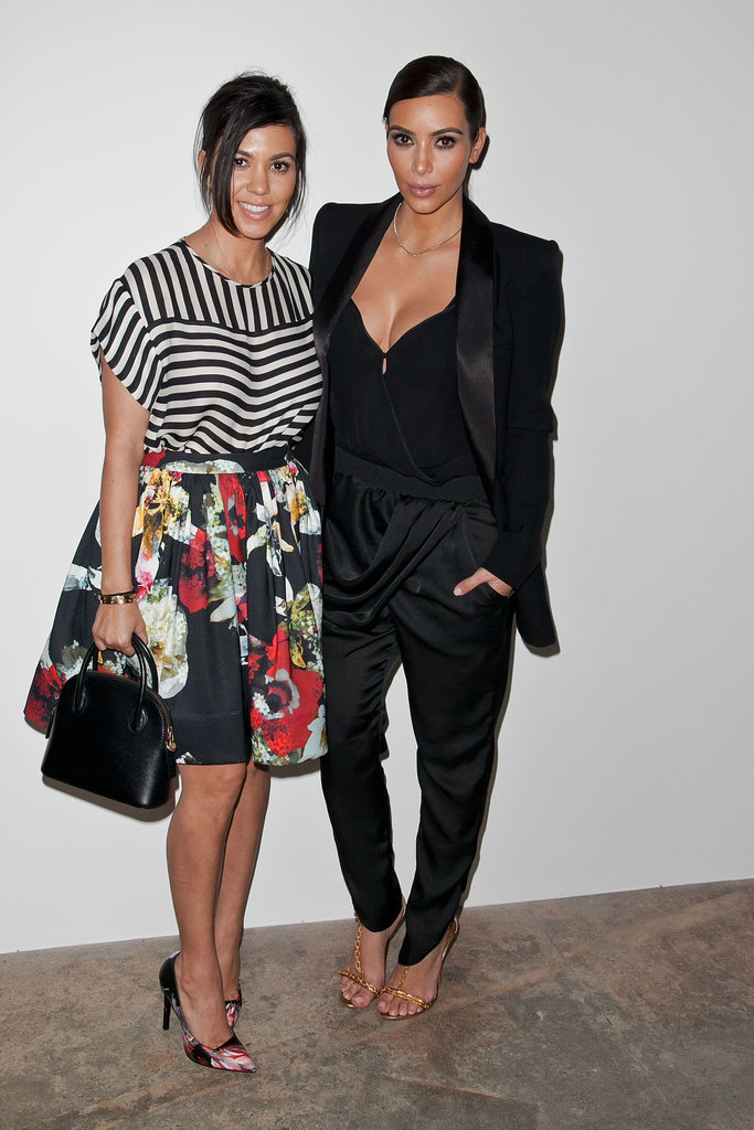 Kim and Kourtney posed for photos together.