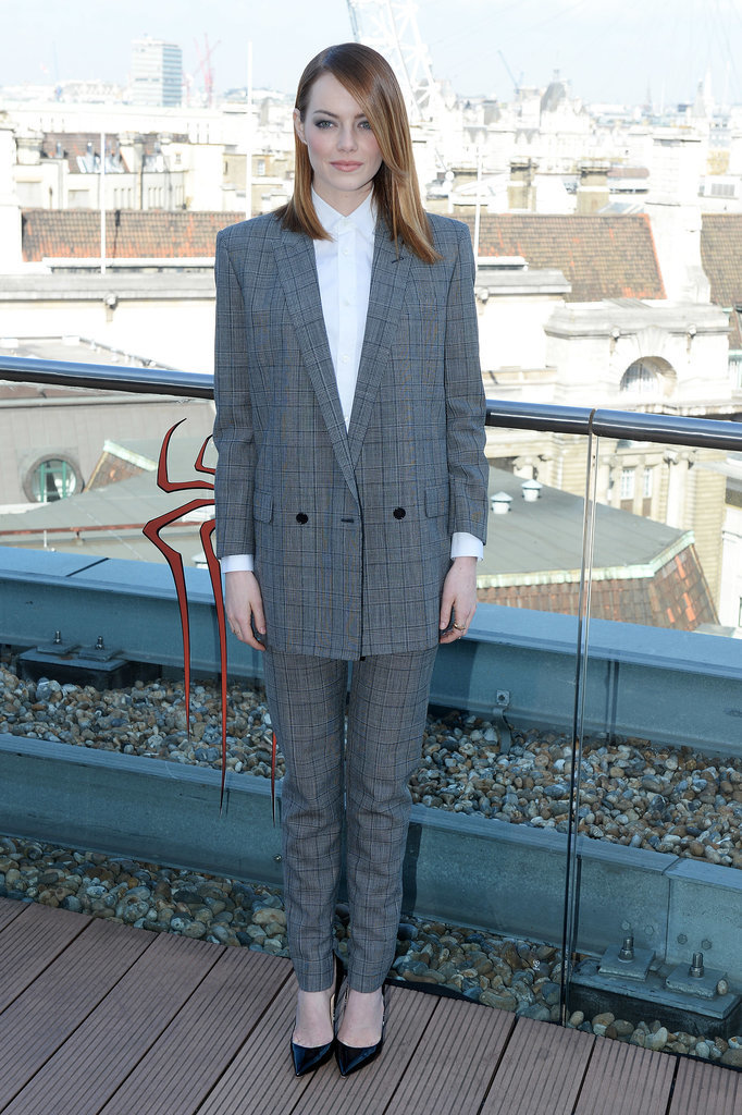 Emma Stone at a London Photocall For The Amazing Spider-Man 2