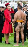 When Kate kept a smile on her face while meeting a bare-butted man.